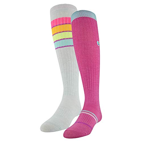 Under Armour Knee High Over The Calf Socks, 2-Pair, Mojo Pink/Assorted, Youth Large