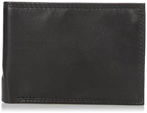 Buxton Men's Emblem Double Id Billfold Wallet, Black One Size