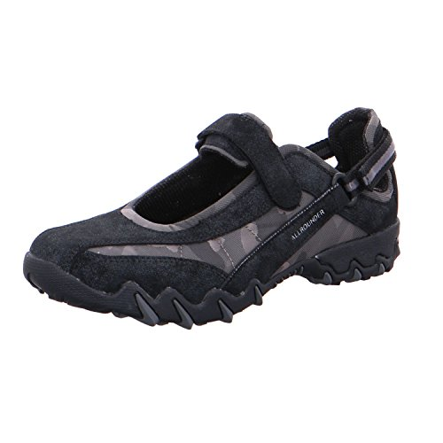 Mephisto Women's NIRO Competition Running Shoes Black (Blue/Black B.suede 55/Camou 1) hcYcoGonME