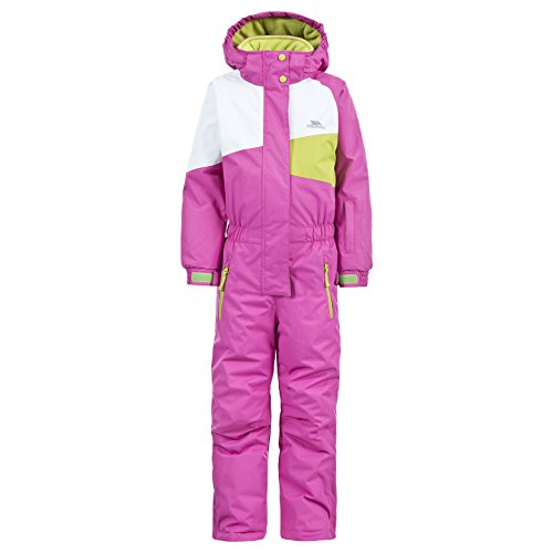 Trespass Wiper Kids Unisex Ski Suit Warm Winter Hooded Jumpsuit for Boys Girls (Jump Suit Kids)