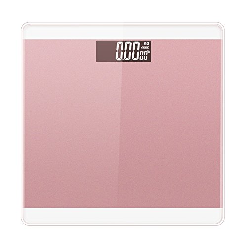 LUOYIMAN Body Weight Scale Digital Electronic Bathroom Scale High Accuracy 180kg/396lb (Pink)
