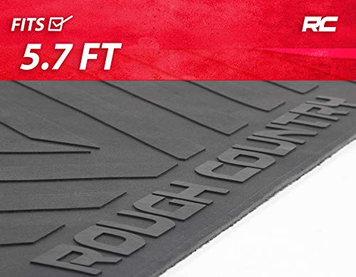 Rough Country Rubber Bed Mat (fits) 2019 RAM Truck 5.7 FT Bed Premium Bed Liner RCM661