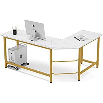 Amazon Com Tribesigns Modern L Shaped Desk Corner Computer Desk Pc Laptop Gaming Table