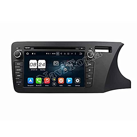 NaviTopia 8inch Octa Core Android 6.0 Car DVD Player For Honda CITY 2014 Right Car Radio+GPS+Bluetooth+WiFi+Mirror - City Navigator Dvd