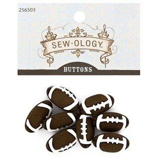 Brown Football Shank Buttons]()