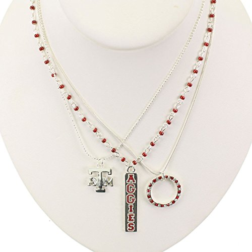 Seasons Jewelry Texas A&M Trio Necklace (Texas A&m Reveille Costume)