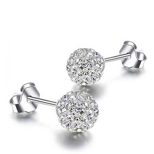 BeeSpring 1Pair Women and Girls Ear Gifts - Silver Color