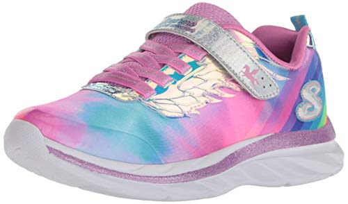 Skechers Kids Girls' Quick Kicks-ALICORN Wings Sneaker, Multi, 5 Medium US Big Kid (Skechers Memory Foam Shoes Girls)