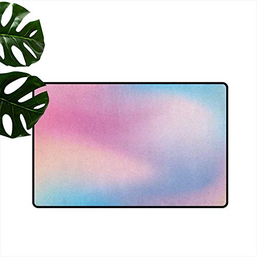 Anzhutwelve Pastel,Decorative Floor Mat Abstract Blurry Colors Composition Sweet Daydream Fantasy Miscellaneous 36