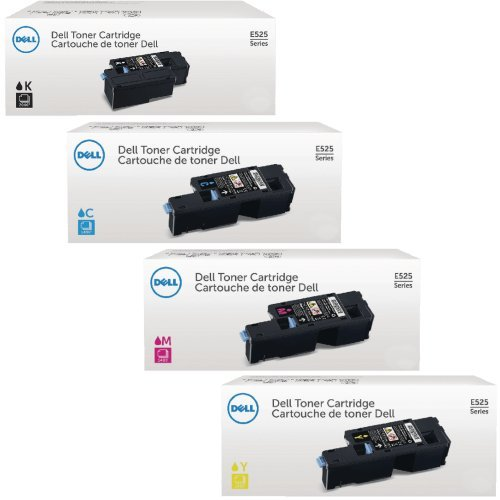 Genuine Dell E525W Toner Set For Dell E525W Color Laser All-
