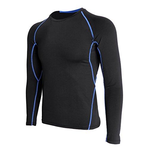 アプト野な理容室Fenteer メンズ スリムフィット Tシャツ スポーツ アスレチック ランニング ジョギング ジム フィットネス 練習  長袖 全6サイズ