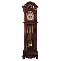 ACME 01430 Marsha Grandfather Clock, Cherry Finish