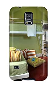 Cynthaskey Snap On Hard Case Cover Kids Bedroom With Green Walls Platform 038 Suspended Bed Protector For Galaxy S5