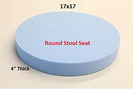 Upholstery Foam Pad Round Stool Seat Chair Cushion Replacement Medium Firm  Foam (Padded Bar Stool