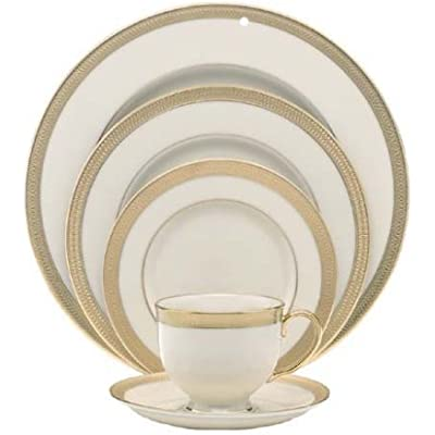 Click for Lenox Lowell Gold Banded Ivory China 5-Piece Place Setting, Service for 1