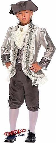 Italian Made 7 Piece Deluxe Baby & Older Boys Rich Tudor Lord Count of Monte Cristo Carnival Historical Halloween School Book Day Week Fancy Dress Costume Outfit 0-10 years (9 years)