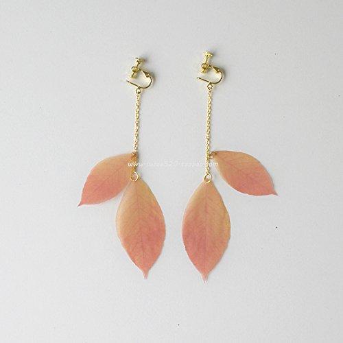 Rather critical original light translucent chiffon autumn leaves deciduous leaves earrings earrings ear clip arts