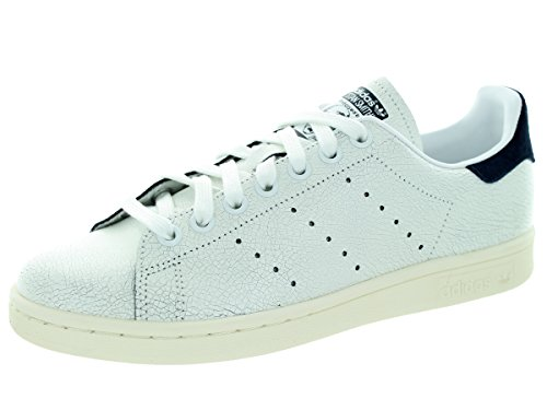 Adidas Women's Stan Smith W Originals Ftwwht/Ftwwht/Conavy Casual Shoe 8.5 Women US