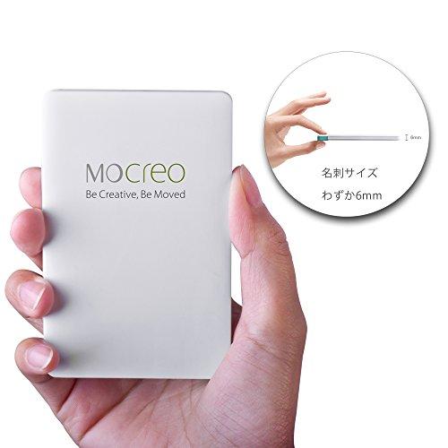 MOCREO® モバイルバッテリー、超薄型ウルトラポータブルモバイルバッテリ...