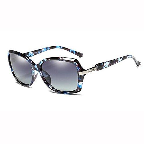 Redonda Moda Street Gafas Luz UV Color xin De Azul Cara Sol WX Sra Beat Rojo Anti De Gafas Diamante Polarizada Imitación ZAqPSnwg0