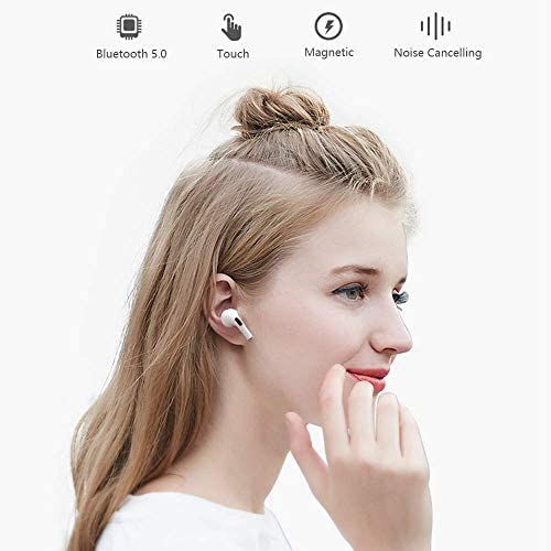 Wireless Earbuds Bluetooth 5.0 Headphones with [24 Hours Playing time],IPX5 Waterproof, 3-d Stereo Headset in-Ear Earbuds Built-in Mic, Pop-ups Auto Pairing,for iPhone/Apple AirPods/Android/Samsung