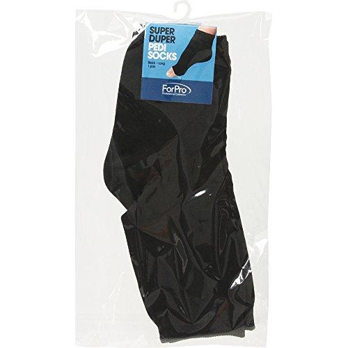 For Pro Super Duper XL Pedi Socks, Black
