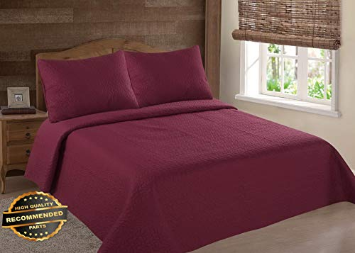 Werrox Persian Collection NENA Solid Quilt Bedding Bedspread Coverlet Pillow Cases Set Twin Size | Quilt Style QLTR-291267295