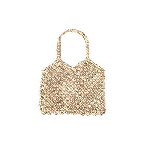 - Straw Woven Braided Women'S Bag Handbag Vacation Bohemian Handmade Woven Totes Beach Bags Fashionable Women Handbags Bag,T1