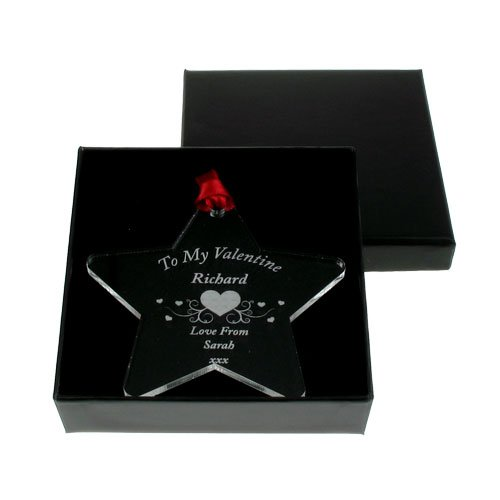 Personalised Valentines Day Star, Engraved Valentines Day Keepsake, Special Valentines  Gift For Him
