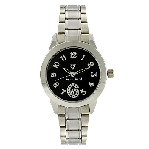 Swiss Grand SG 1160 Silver Coloured with Silver Stainless Steel Strap Analog Quartz Watch for Women