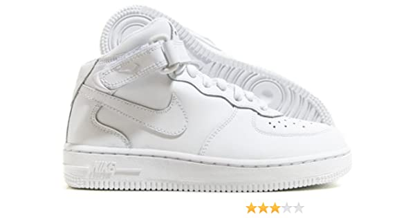 new product 0e7fc e6340 Amazon.com   Nike Air Force 1 Mid (PS) Preschool Kids  Shoes White White  314196-113   Sneakers