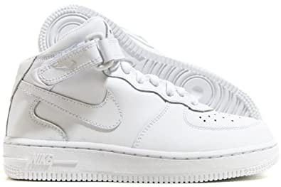 newest e6566 d1041 Nike Air Force 1 Mid (PS) Preschool Kids  Shoes White White 314196-