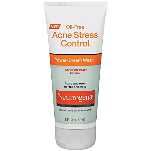 Neutrogena Oil-Free Acne Stress Control Power-Cream Wash-6 oz