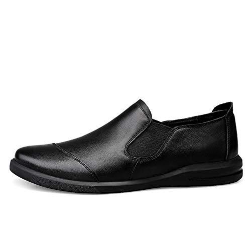 Mocassins Pour Cuir Eu Glossy Business Couleur Hommes chaussures Semelle color Souple Taille Unie Black En De Bean Cricket Chaussures Black 40 Casual Mocassins qw7gn7Cd