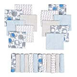 Viviland Baby Washcloths, Extra Soft and Ultra Absorbent, 24pcs Gift Pack, Elephant