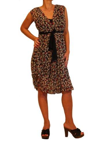 "Waooh - Fashion - Kurzes Kleid Blume ""Casy"" - Braun"