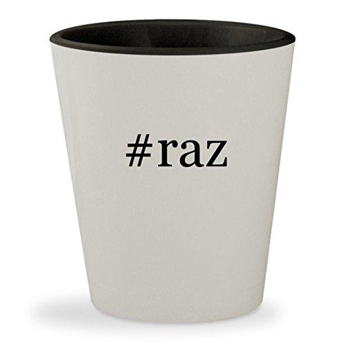 #raz - Hashtag White Outer & Black Inner Ceramic 1.5oz Shot - Pak Ban