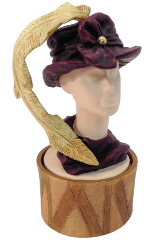 Just the Right Shoe / Style Feather Flair Hat Bust Box