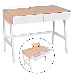 Computer Desk Laptop PC Table Study Workstation Home Office Furniture w/ Drawers