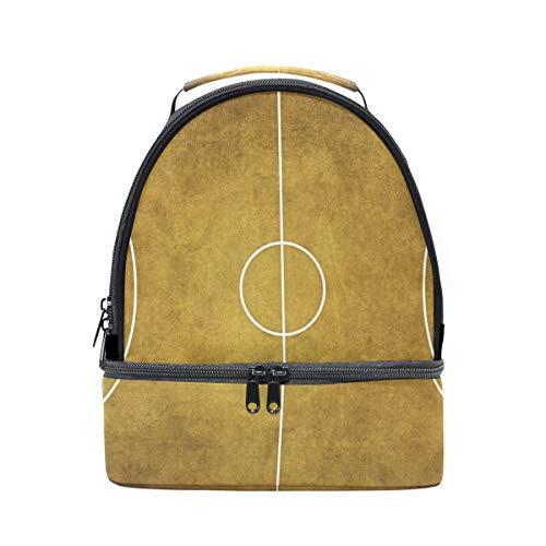 con de picnic correa para ajustable de almuerzo bolsa doble vintage Bandolera baloncesto B8q0EP