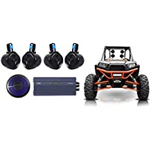 "Hifonics TPS-A600.5 600w 5-Ch Amplifier+(4) Tower Speakers+12"" Sub ATV/UTV/RZR"