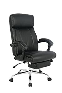 VIVA OFFICE Reclining Office Chair, High Back Bonded Leather Chair with Footrest- Viva08501