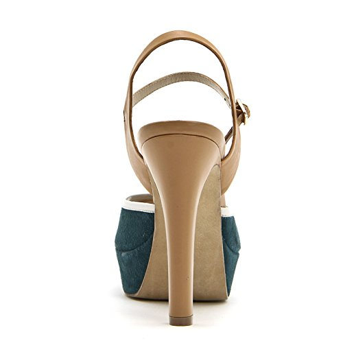 ALESYA by Scarpe&Scarpe - Sandalias altas con correa en el tobillo, con Tacones 12 cm Verde
