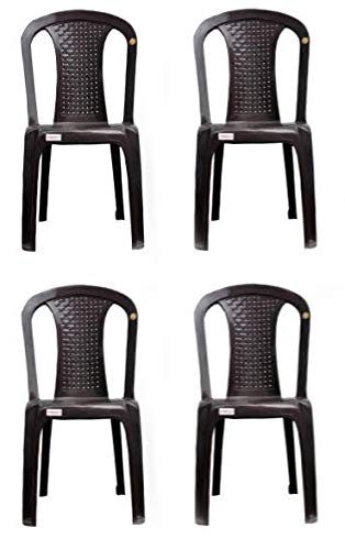 Varmora Without Arm Chair Netted Dine,Pack of 4