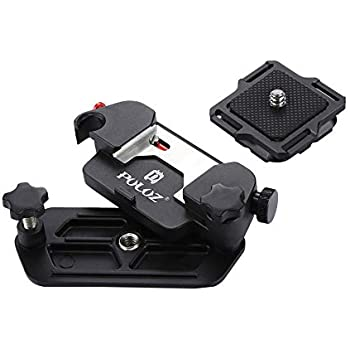 Capture Camera Clip Aluminum Alloy Quick Release Clip with Plate with 1/4 Tripod Screws for DSLR
