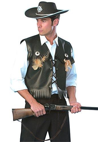 Mens Black Cowboy Waistcoat (Cowboy Costume Ideas For Men)