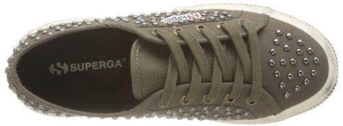 Superga 2750-COTWDSTUDS WT S0072Y0 - Zapatos bajos de tela para mujer Verde (A55 Military)