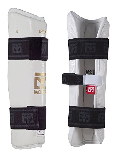 Mooto nuevo Taekwondo WTF espinillera aprobado por blanco y Black XS a XL