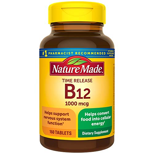 Nature Made Vitamin B12 1000 mcg Time Release Tablets, 160 Count Value Size