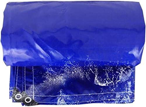 車、木材、ボート、ガーデン、キャンプ、アウトドア4 X 7 Mを保護するヘビーデューティ多目的防水ポリターポリンPEタープ裏庭のテラスカバーUV耐性Backyaldカバー (Color : Blue, Size : 5 x 6 m)
